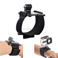 wrist band Hand Strap with Mount of 360 degree rotation with lock, for GO PRO HE RO 4/3+/3/2/1/sj4000/sj5000/sj6000