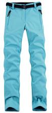 Lanbaosi mulheres esporte quente Trekking de lã dentro Softshell calças impermeáveis calças à prova de vento