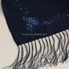 Black Wool Scarf Fringe Poncho Free Beading Patterns