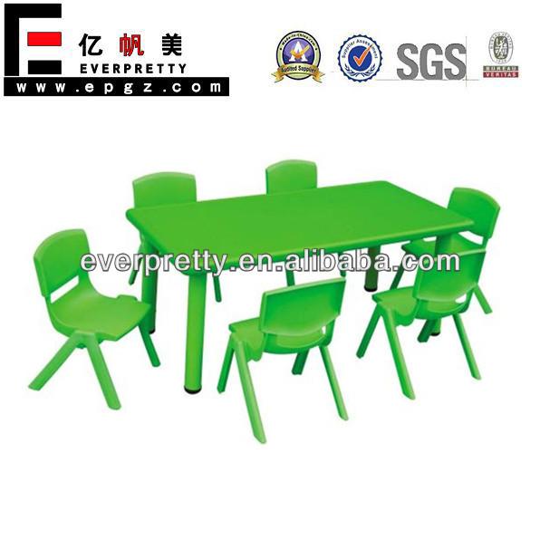 De pl stico muebles infantiles y mesa de comedor de los - Mesas infantiles de plastico ...