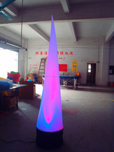 colorful circular LED inflatable cone models, LED inflatable cone for decoration