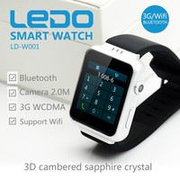 MTK6572AX chip Android mobile watch/ 2015 factory wholesale mobile 3G watch phone / HOT SALE China GPS Smart watch