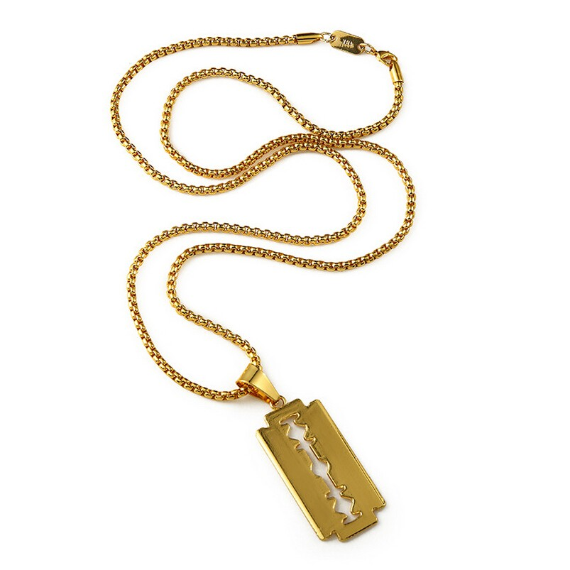 Gold  Razor Blade Pendant Necklace GN03010G01 (3).jpg