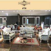 danxueya french provincial fabric sofa/ wooden sofa set designs / crushed velvet sofa set designs 868