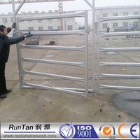 galvanized 1.8m x 2.4m oval pipe cattle rail fence / corral fence