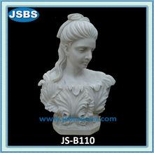 blanco hermoso mármol romano estatua del busto femenino
