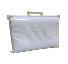Clear PE plastic zipper pillow bag home bedding packaging for sale