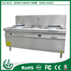 on sale wholesale 2-burner commercial electric induction cooker with rear stock pots