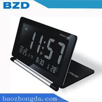 Multi-functional LCD Display Portable Folding Travel Alarm Clock Pocket Flip Clock / Electronic items Manufacturer OEM/ODM