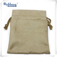 Faux suede pouch drawstring bags for jewelry