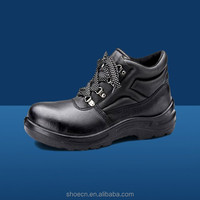 ce cutting resistant safety boots high-heeled shoes smooth cow leather genuine leather groundwork For engineering working