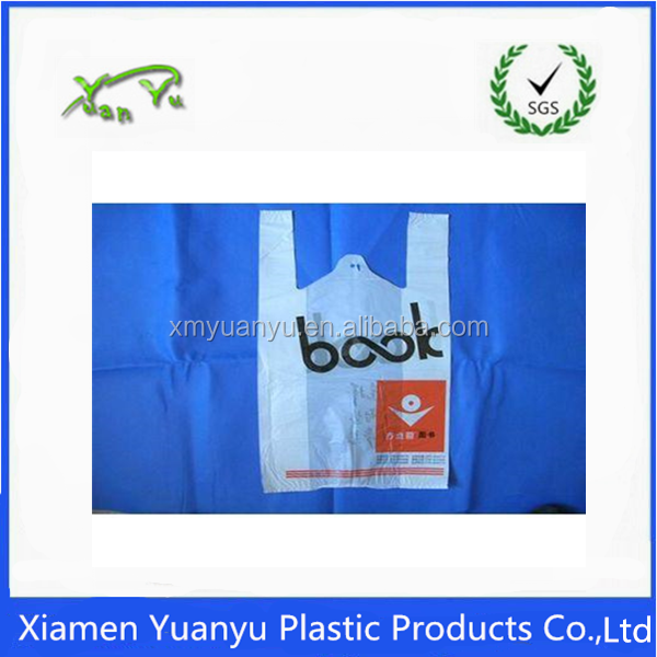 Plastic t shirt food bag biodegradable plastic bags for Cheap t shirt bags wholesale