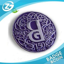 Wholesale Recycle Enamel Custom Badge Round Souvenir Coin
