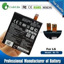 2300mah 3.8v nexus 5 battery gb t18287, BL-T9 for LG D820 D821 mobile phone battery