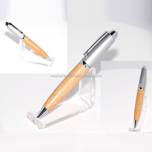 Wholesale promotional maple wood ball pen for gifts