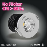 no strobe no dazzle LED dimmable cob downlight 3000K/4000K/5000K with 3 years warranty