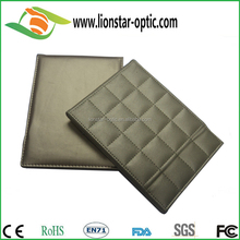 Factory direct High quality Dood Workmanship Desktop Foldable Leather Makeup Mirrors for travel office home use
