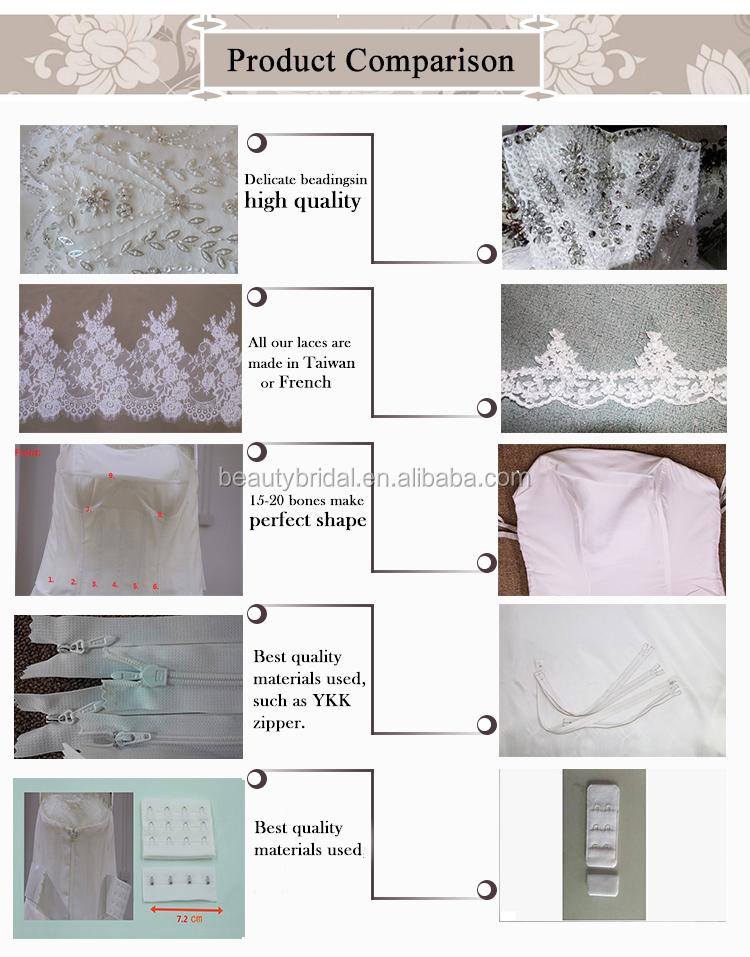 de vraies images de dentelle sirène acheter robe de mariage en Chine