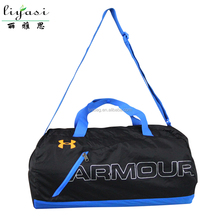 Foldable Real Nylon Bag Promotional Bag with Double PP Webbing Shoulder
