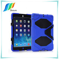 Durable stand rubberized hard case for iPad mini 2