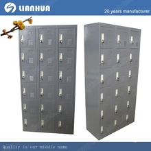 factory worker use 18 door steel locker,grey color changing room use steel storage clothes cabinet