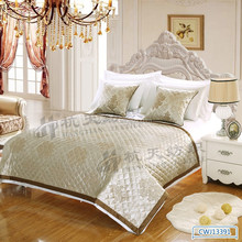 European Style Full size luxury bed runner bed cover and matching cushion covers for home and hotel