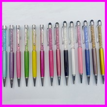 Promotional High Quality Gift Diamond Stylus Touch Plastic Advertising Ballpoint Crystal Pen
