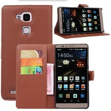 Leather wallet style mobile phone case for Huawei mate 7
