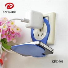 KAREADO free shipping plastic foldable wall promotional gift charging mobile phone holder