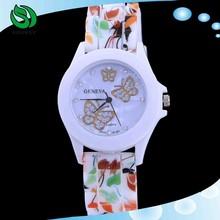 2015 hot Silicone quartz watch Ladies Jelly Sport wristwatch
