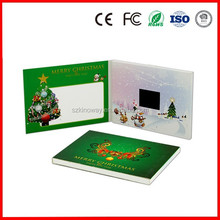 Paper type business gift video card LCD screen christmas/Halloween/Thanksgiving festival 2.4 inch video card with ROHS/CE
