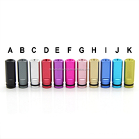 Best selling universal e cigarette mouthpieces metal round /flat drip tip aluminum short 510 drip tip for Viva Nova/DCT tanks