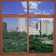 cheap and fine wood frame aluminum window