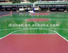 Polyurethane sports surface for basketball courts