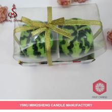 cheap decoration 2pcs watermelon shape candle
