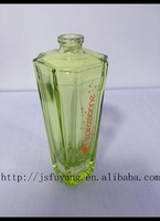 beautiful square clear perfume glass bottles