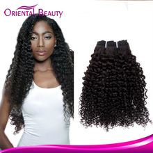 Guangzhou human hair extensions for black women raw indian temple hair Kinky Curly Hair
