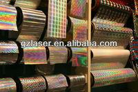 Hologram adhesive backed plastic film