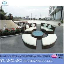 YuXiang ourdoor garden high quality pe rattan sofa for patio shop