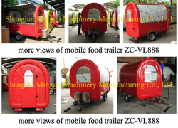 Mobile hot dog cart, snack candy ambulant cart, food cart manufacturing plant