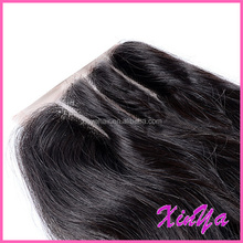 Top Quality Body wave Brazilian Human Hair lace closure bleached knots