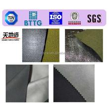 Non flammable fabrics with aluminium foil finish