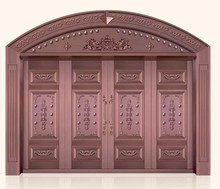 arch copper door- art door with special structure-copper door