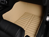 Leather car floor mats hard-wearing car mat Material PVC Material Beige car mats with 5 pcs one set