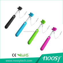 The best selling cable take pole selfie stick with the lowest price for apple (ios) android take line direction for use