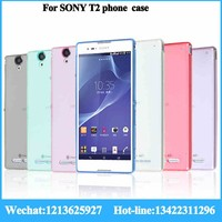 professional factory china supply case of cell phone for sony T2 cell phone case packaging TPU thin cell phone case wholesale