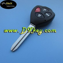 Top Best 3+1 button 433MHZ auto remote key for toyota corolla key toyota smart key remote with 4D67 chip