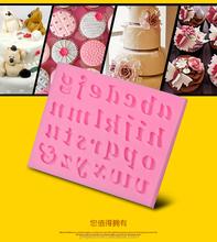 Fondant decoração de bolos 3D letras e números do alfabeto molde de silicone