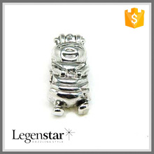 Stainless Silver Clown Performer Shaped Beads For Beads Jewelry SZ10181