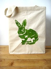 Cute Rabbit Recycled Shopping Bag Shoulder Bag for Woman